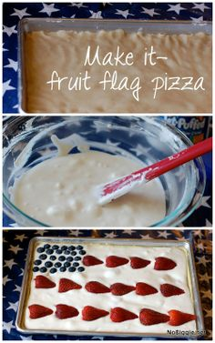 fruit flag pizza | N
