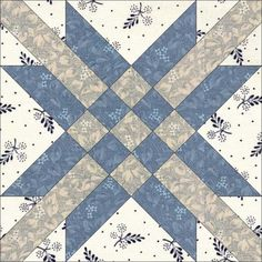 STAR AND CROSS, 6″, Light Today's Block Star and Cross was first documented by the Ladies Art Company (#284, c1895); however, like so many of their patterns, it appeared much earlier. Lockport Cotton