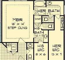 Like bathroom design Master Suite Layout, Master Suite Floor Plan, Master Bedroom Addition, Dream Master Bedroom, Dream House Plans, House Floor Plans, Bathroom Floor Plans, Bathroom Layout, Bathroom Ideas