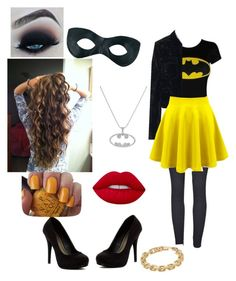 """""""Batgirl costume"""" by catgirlforever on Polyvore featuring Tomas Maier, Michael Antonio, Lime Crime, OPI and Calvin Klein"""