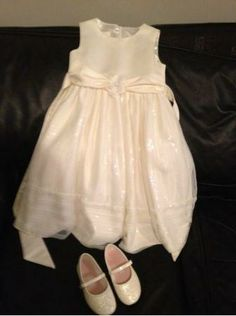 Girls Ivory Dress Shoes | ... for: Girls Cinderella Ivory Dress and Ivory Dress Shoes (Brampton