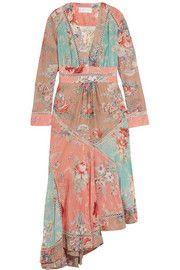 ZimmermannAnais printed cotton and silk-blend midi dress