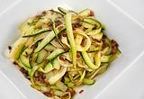 "Zoodle Fettucini - ""zoodles"" - figure out how to make vegetarian"