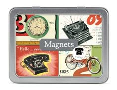 Amazon.com: Cavallini Magnet Set Vinatge, 24 Assorted Magnets Packaged in a Tin: Home & Kitchen