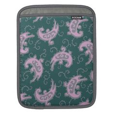 Kashmir floral pattern Ipad Sleeve  Kashmir post vintage pattern. As useful as stylish, this artwork is based on vintage pattern, but with a touch of modernity in color developing. For him, her, for everybody.
