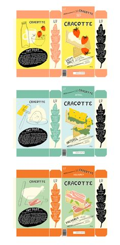 Cracker packaging redesign by Bodil Jane