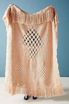 Bring a modern rustic feel to your bedroom with this crocheted mizros throw blanket #ILOVETHATSTYLE