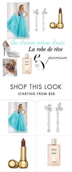 """the dream prom dress"" by bree9017 on Polyvore featuring Clarisse, Anyallerie, Christian Dior, Chanel and Jimmy Choo"