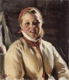 Swedish Farm Girl (Kuver Maja) by Anders Zorn, c1902