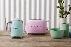 The new Smeg must-have kitchen accessories include toaster, mixer, blender and kettle in a variety of colours.
