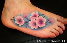 OUR FUTURE TATTOO Foot Tattoos, Flower Tattoos, Skin Candy, Great Tattoos, Future Tattoos, I Tattoo, Watercolor Tattoo, Tatting, Body Art