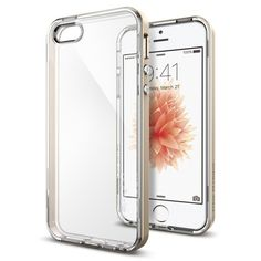 Чехол для iPhone 5, 5S, SE гибридный Spigen SGP Neo Hybrid Crystal прозрачно-золотистый - Portative.by