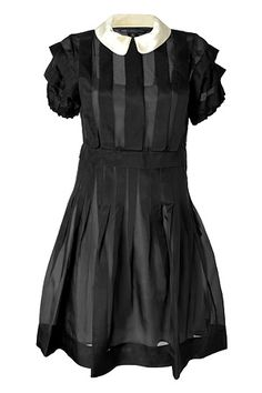 Black Silk Organza Ansastasia Dress by MARC BY MARC JACOBS