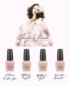 Not going to do acrylics for the big day...just having my nails painted one of these colors will do :)