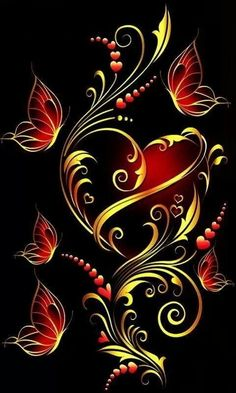 1 million+ Stunning Free Images to Use Anywhere Butterfly Wallpaper, Heart Wallpaper, Butterfly Art, Cellphone Wallpaper, Wallpaper Backgrounds, Flower Art, Motif Floral, Heart Art, Beautiful Butterflies