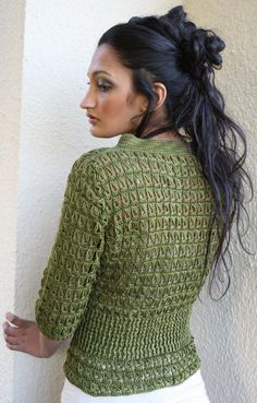 love this jacket from stitchdiva.com - has excellent tutorials for broomstick lace