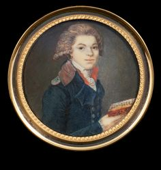 """Unknown French Painter, """"Portrait of Man"""", 1790 Villa Nuova Fine Arts, Bergamo"""