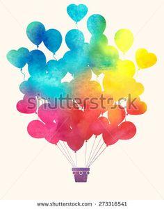 Watercolor illustration of a vintage hot air balloon vector art illustration Red Balloon, Hot Air Balloon, Balloons, Balloon Illustration, Watercolor Illustration, Watercolour, Watercolor Ideas, Free Vector Graphics, Vector Art