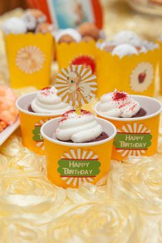 Fun treats at a My Little Pony Apple Jack birthday party! See more party planning ideas at CatchMyParty.com!