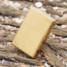 Zippo Windproof Vintage High Polished Brass Lighter #270