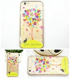 iPhone 6 Case, Apple iPhone 6 Case Shock-Absorption Bumper and Anti-Scratch Clear Back for iPhone 6 Plus - Colorful Tree with Cat TPU iPhone 6 soft case