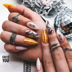 Nail Swag, Aycrlic Nails, Edgy Nails, Bling Nails, Hair And Nails, Nagel Hacks, Best Acrylic Nails, Acrylic Nail Designs, Fire Nails