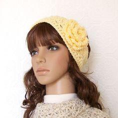 Crochet headband headwrap earwarmer - custard cream - handmade Fall Fashion Winter Fashion Winter Accessories by Sandy Coastal Designs. $15.00, via Etsy.