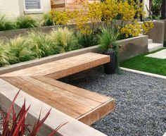 back yard planter inspiration. Superb Phormium mode San Diego Contemporary Landscape Decorators with black planter border wall cement wall concrete steps concrete wall corner bench gavel grass