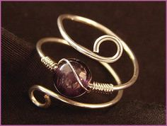 Inspiration piece I can't wait to try to make! Amethyst ring
