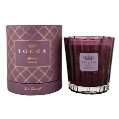 Women's TOCCA 'Meribel' Holiday Candle (13 KWD) ❤ liked on Polyvore featuring home, home decor, candles & candleholders, candles, vanilla scented candles, vanilla candles, tocca, fragrance candles and fig candle