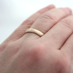 Gold Mens Wedding Band Brushed Mens or Womens by TheSlyFox, $350.00