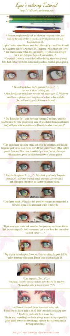 Eyes's coloring Tutorial by Hellobaby on @DeviantArt