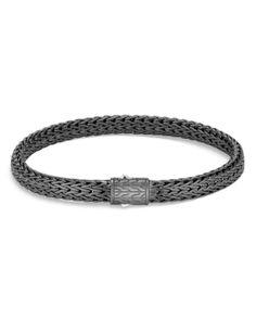 Bracelets For Men, Jewelry Bracelets, Jewellery, Copper Wire Jewelry, Mens Sterling Silver Necklace, John Hardy, Black Rhodium, Matte Black, Jewelry Accessories