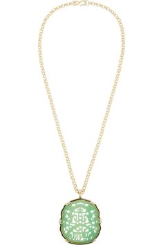 Kenneth Jay LaneGold-plated, resin and crystal necklace