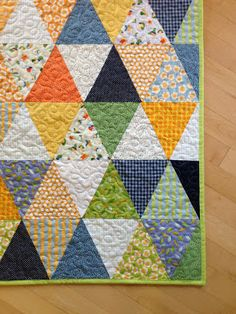 crazy mom quilts, equilateral triangle quilt