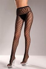 NWT sexy BE WICKED lace CHEVRON pattern TIGHTS pantyhose NYLONS hosiery LYCRA
