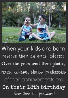 Email your kids