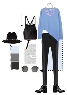 """""""Efortless"""" by disconnect ❤ liked on Polyvore featuring STELLA McCARTNEY, Balenciaga, Dolce&Gabbana, BaubleBar, Anine Bing, pastel, trend and babyblue"""