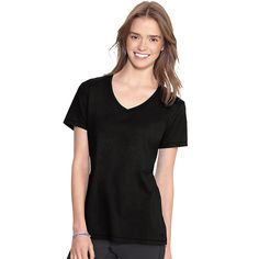 Champion Authentic Women's Jersey V-Neck Tee