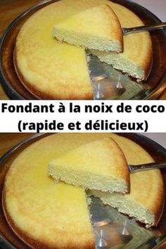 Coconut fondant (quick and delicious) - Gâteaux - Desserts Cooking Recipes For Dinner, Brunch Recipes, Gourmet Recipes, Appetizer Recipes, Brunch Appetizers, Holiday Appetizers, Holiday Recipes, Cheesecake Mousse Recipe, Mini Cheesecake Recipes