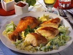 Paprika-Ingwer-Hähnchen mit Spitzkohl
