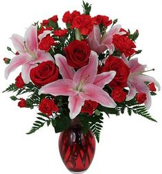 Roses, Lilies and Carnations! Available at www.overseasflowerdelivery.com
