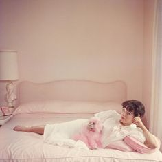 Joan Collins Relaxes by Slim Aarons
