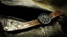 AVIATION B-UHR 03   Wotancraft Atelier #watch #wrist #time #clock #minimal #elegant #design #style #black #leather #aviator #aviation #pilot #brown #military