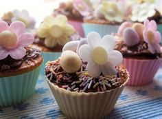 Little Easter Egg and Daisy Cakes by Karen Burns Booth