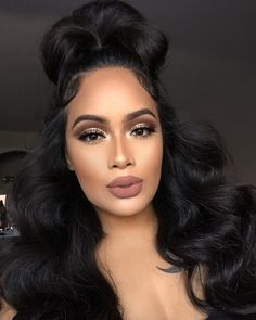 Uhair top quality brazilian virgin hair body wave 4 bundles with lace frontal,Factory direct sales 100 human hair extensions Makeup Black, Love Makeup, Makeup Tips, Beauty Makeup, Makeup Looks, Hair Beauty, Brown Makeup, Flawless Makeup, Skin Makeup