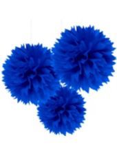 Royal Blue Fluffy Decorations - Party City
