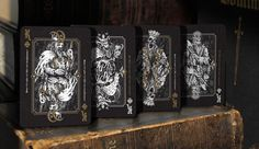 The Kings of Obscura (Darkness & Consequence) Playing Cards Art, Custom Playing Cards, Cartomancy, Raise Funds, Cool Cards, 3d Printing, Darkness, Prints, Etsy