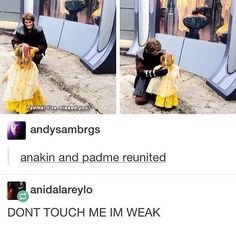 Padme? I've missed you! {DON'T TOUCH ME I'M WEAK} < I love that this is little Lane who had seen this anikan before in a different outfit and he remembered seeing her before! Sooooo cute!!