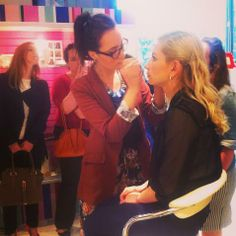 Laura Murray at our Beauty Tutorial Night!